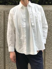 オーガニックコットン100% シャンブレーレギュラーカラー長袖シャツ