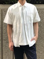 オーガニックコットン100% シャンブレーレギュラーカラー半袖シャツ