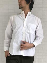 イージーケア素材 ブロードレギュラーカラー長袖シャツ