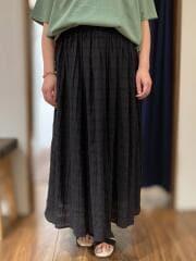 インド製/ PU入り リッチスカート