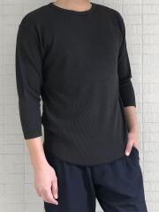 リサイクルポリエステルワッフル七分袖Tシャツ