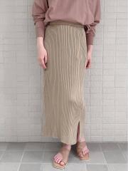 リブニットスカート