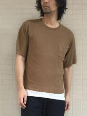 カノコ編み半袖ニットTシャツ