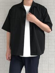 オープンカラーオーバーサイズ半袖シャツ