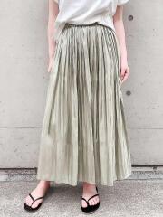 オーロラサテン プリーツスカート