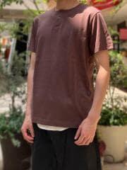 オーガニックコットン100% / ワンボタンヘンリーネックTシャツ