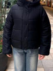 マイクロタフタ中綿フードジャケット