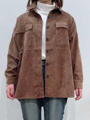 メランジコール/シャツジャケット