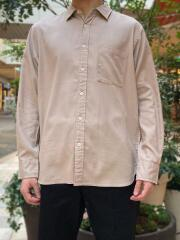 エシカルファイバーミックス/レギュラーカラー長袖シャツ