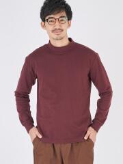 ウインターコットン/レギュラーフィットモックネック長袖Tシャツ