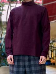 ウインターコットン/レギュラーフィットタートルネック長袖Tシャツ