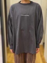 リサイクルコットン100%/表起毛刺繍Tシャツ