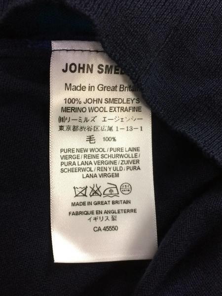 JOHN SMEDLEY(ジョンスメドレー) / セーター(薄手)/L/ウール/ネイビー ...