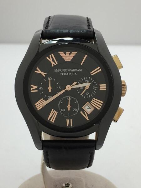 competitive price 608be 980fe 腕時計/アナログ/レザー/BLK/BLK/社外ベルト/AR-1410