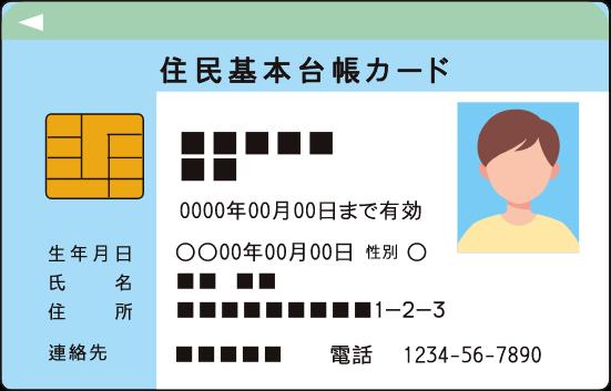 住民基本台帳カードイメージ